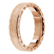Leather-Textured Wedding Band 18k Rose Gold Vintage Edge Ring