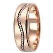 Twist Handmade Wedding Band 18k Rose Gold Ring