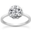 Round Diamond Halo Engagement Ring Setting