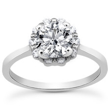 Round Diamond Halo Engagement Ring Setting