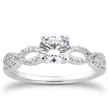 Twist Infinity Diamond Engagement Ring Setting