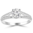 Diamond Engagement Ring Setting with a Split-Band