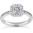 Princess-Cut Diamond Halo Ring Setting