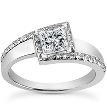 Unique Princess Cut Diamond Engagement Ring Setting