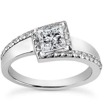 Unique Princess Cut Diamond Engagement Ring Setting