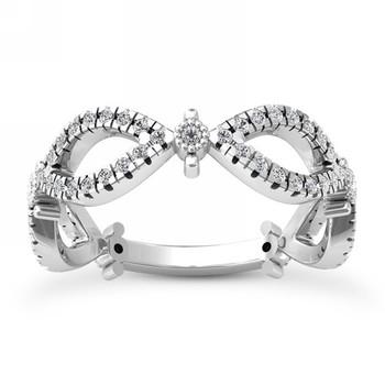 Entwined Diamond Anniversary Ring Weave Wedding Band