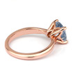 Cushion Blue Aquamarine Solitaire Engagement Ring Rose Gold Side-View