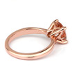 Peach-Pink Cushion Morganite Solitaire Engagement Ring Side-View