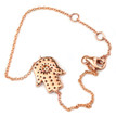 Diamond Sapphire Hamsa Evil-Eye Charm Bracelet 14k Rose Gold 2