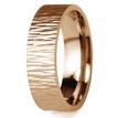 Tree Bark 14k Rose Gold Wedding Band Ripple Texture Ring