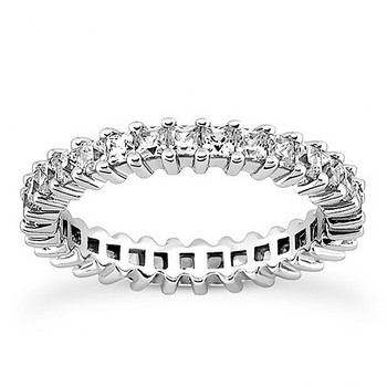 Princess-Cut Prong-Held Diamond Eternity Band Ring