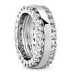 2-Row Diamond Eternity Wedding Band Bridal Side-View