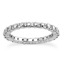 1 Carat Bar-Set Diamond Eternity Wedding Ring Band
