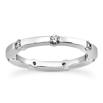 0.35ct Diamond Eternity Wedding Ring Solid Band