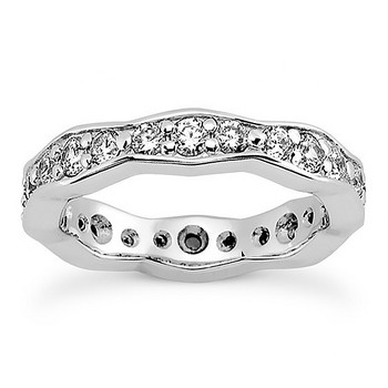 1 Carat Diamond Eternity Wedding Ring Solid Bridal Band