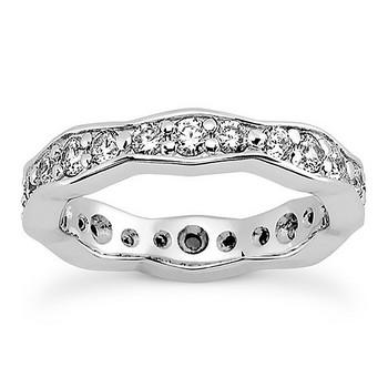 1 Carat Diamond Eternity Wedding Ring Solid Bridal Band