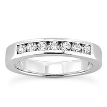 Carat Diamond Wedding Ring Seven-Stone Channel Band