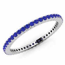 Blue Sapphire Eternity Wedding Band Bridal Ring
