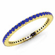 Blue Sapphire Eternity Wedding Band Bridal Ring Yellow Gold