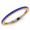 Blue Sapphire Eternity Wedding Band Bridal Ring Rose Gold