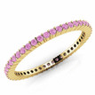 Pink Sapphire Eternity Wedding Band Bridal Ring Yellow Gold