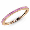 Pink Sapphire Eternity Wedding Band Bridal Ring Rose Gold