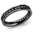 Black Diamond Eternity Ring Channel Black Gold Wedding Band