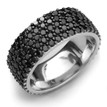Pave-Set Fancy Black Diamond Eternity Wedding Band Anniversary Ring