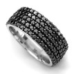 Pave-Set Fancy Black Diamond Eternity Wedding Band Anniversary Ring 2