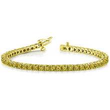 2 Carat Canary Yellow Diamond Tennis Bracelet in 14k Gold