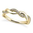 Unique Diamond Twist Wedding Band Guard Ring Yellow Gold
