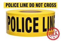 "Presco Barricade Police Tape Heavy Duty 4mm / 3"" x 1000'"