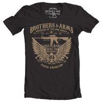 Brothers & Arms USA 100% Ring-Spun Cotton Defenders of The Free World T-Shirt