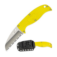 Spyderco FB31YL Enuff Sheepfoot Salt Fixed Blade Knife