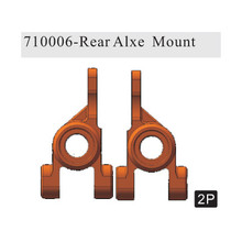 710006  Rear Axle Mount(Al.) 2P (Gun Metal) ~