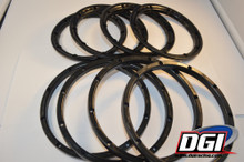 Black set of 8  beadlocks for HPI baja