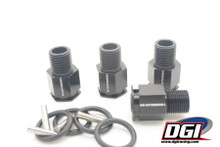 "DGI Extenders 1"" for losi 5  and losi B Black"