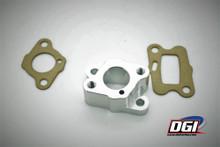 insulator manifold intake aluminum 23 - 30cc