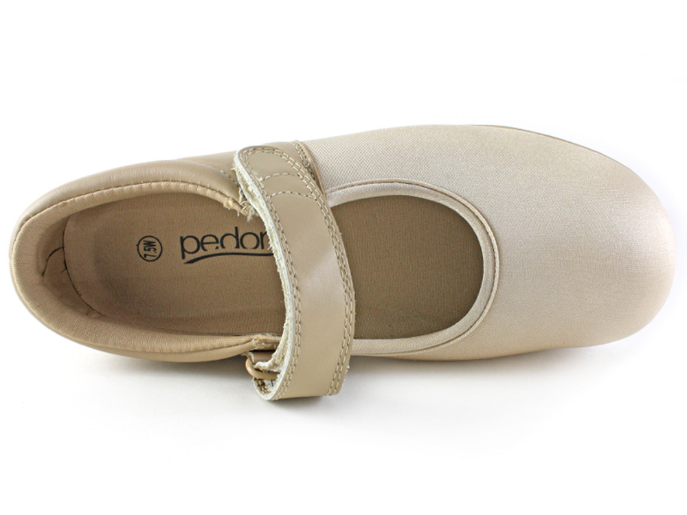 Pedors 501 Beige Mary Jane Top View www.pedors.com