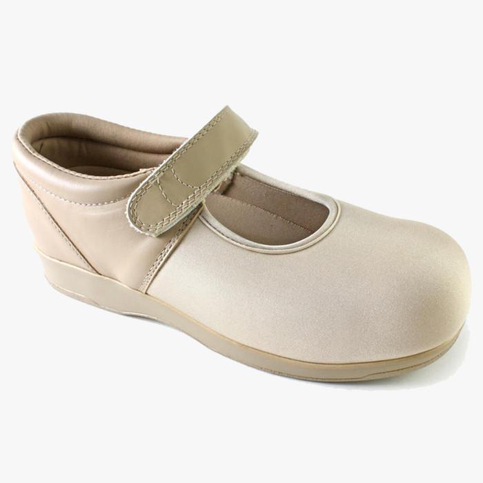 Pedors Mary Jane Beige Zapatos Diabética Y Ortopédicos