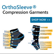 OrthoSleeve Compression Garments for Feet, Legs and Arms. Plantar Fasciitis, swelling, sore joints.