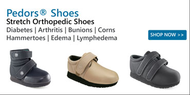 Pedors Stretch Orthopedic Shoes For Diabetes, Arthritis, Corns, Bunions, Hammertoes, Edema, Lymphedema.