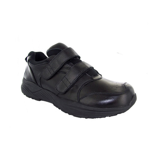 Genext Athletic Touch Closure Black Orthopedic Shoes For Women