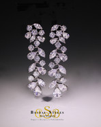 E140 Classic CZ Floral Earrings
