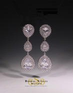 E142 CZ Double Drop Earrings