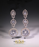 E157 Classic CZ Dangle Earrings