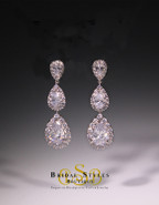 E159 Classy Triple Drop Earrings