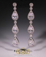 E170 Elegant Triple Drop Earrings