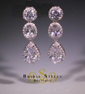 E186 Classic Triple Drop Earrings
