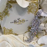 """Custom designed soft wire comb  Encrusted with  Swarovski Crystals -5""""long x 2""""Wide"""
